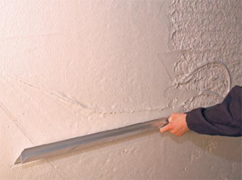 Покрытие стен штукатуркой
