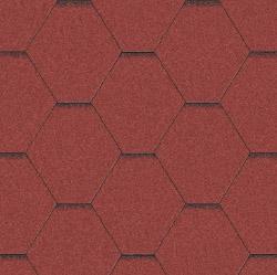 Битумная черепица Aquaizol Мозаика Красная