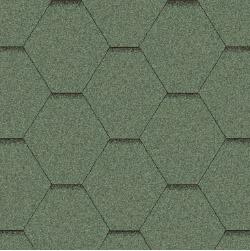Битумная черепица Aquaizol Мозаика Зеленая
