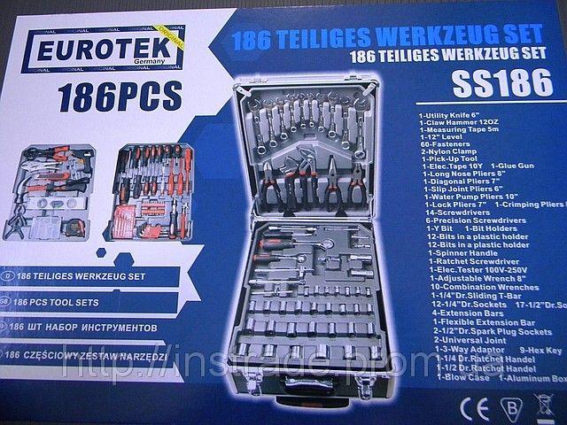 Набор ключей Eurotec SS 186PCS