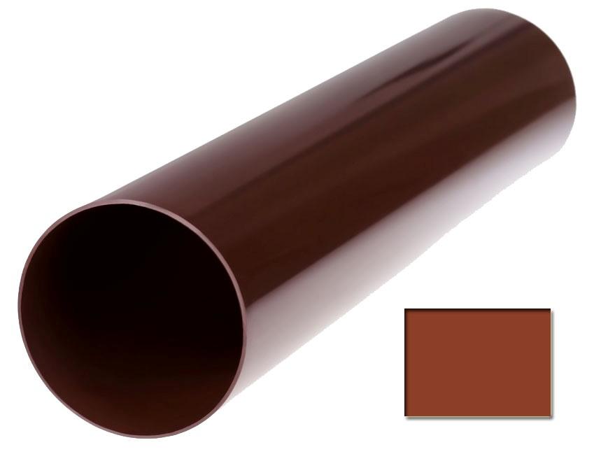 Труба водосточная Profil 90 d75 3м кирпичный 3009 (код 102)
