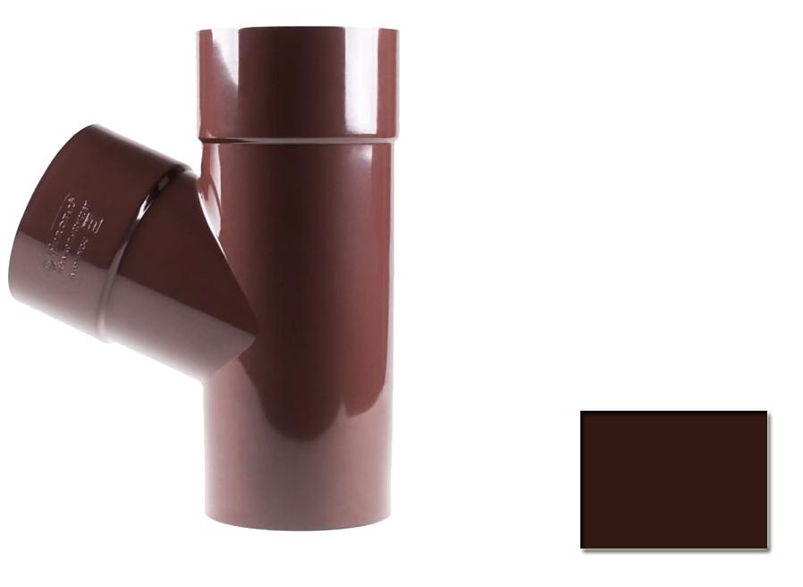 Тройник редукционный Profil 90 d100/75/60 гр коричневый 8017 (код 116)