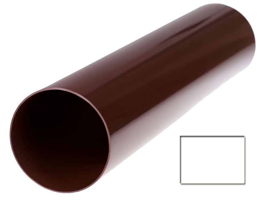 Труба водосточная Profil 130 d100 3мп белый 9016 (код 002)