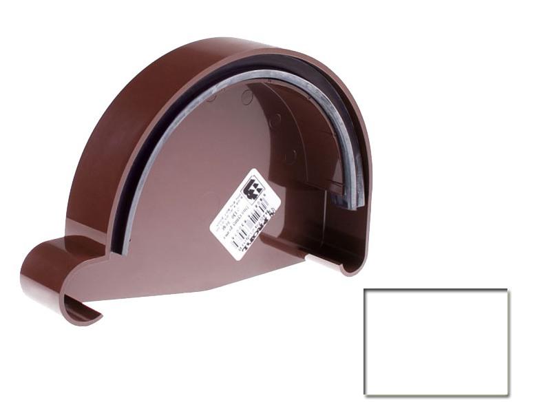 Заглушка желоба Profil 130 правая Р белый 9016 (код 005)