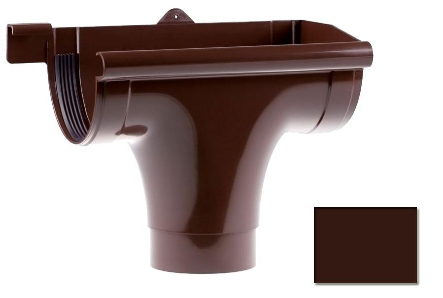 Ливнеприемник Profil 130 правый Р коричневый 8017 (код 007 P)