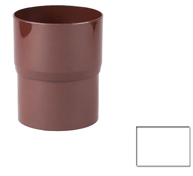 Соединитель трубы водосточной Profil 130 белый 9016 (код 010)