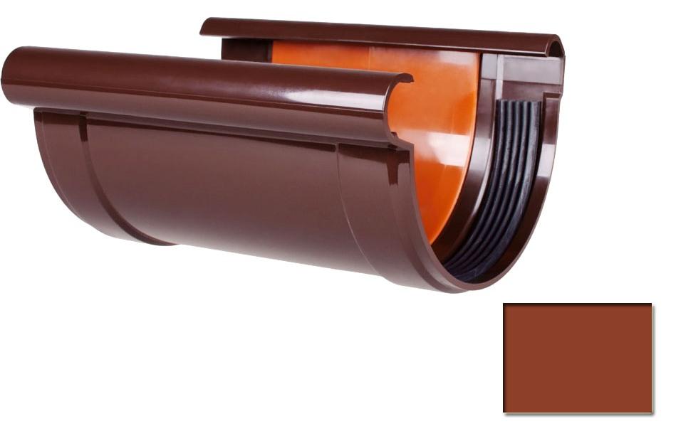 Соединитель желоба с прокладкой Profil 130 кирпичный 3009 (код 011)