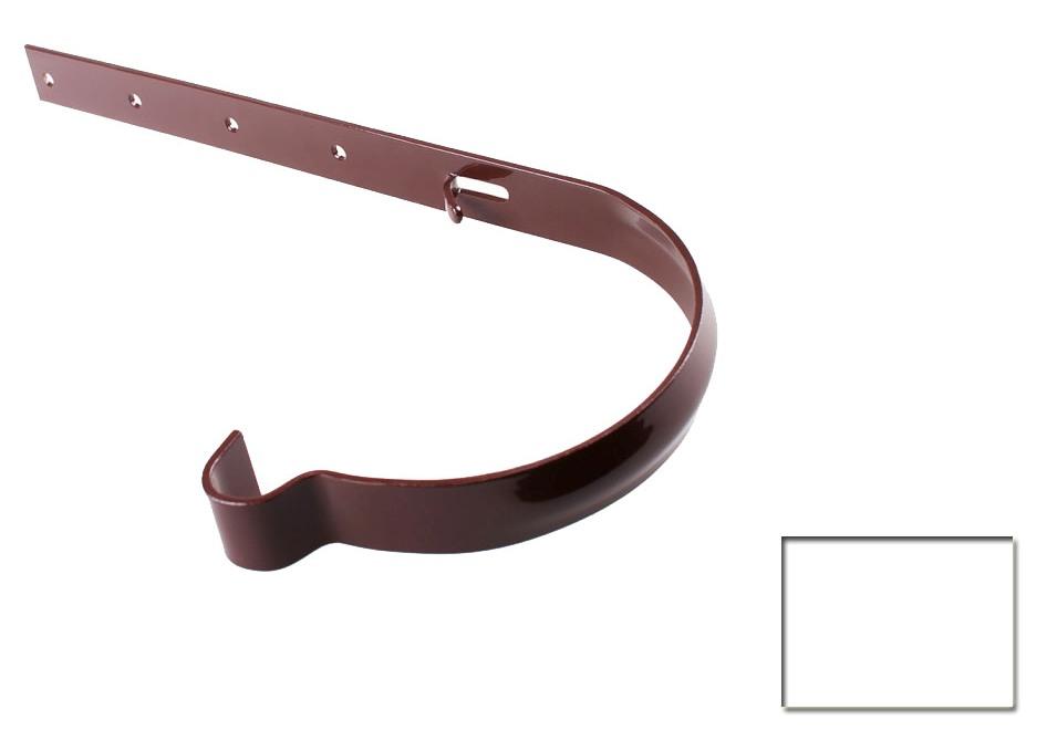 Держатель желоба Profil 130 металлический белый 9016 (код 018)
