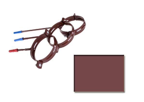 Держатель трубы Profil 130 пластик.-L100 коричневый 8017 (код 019 A)