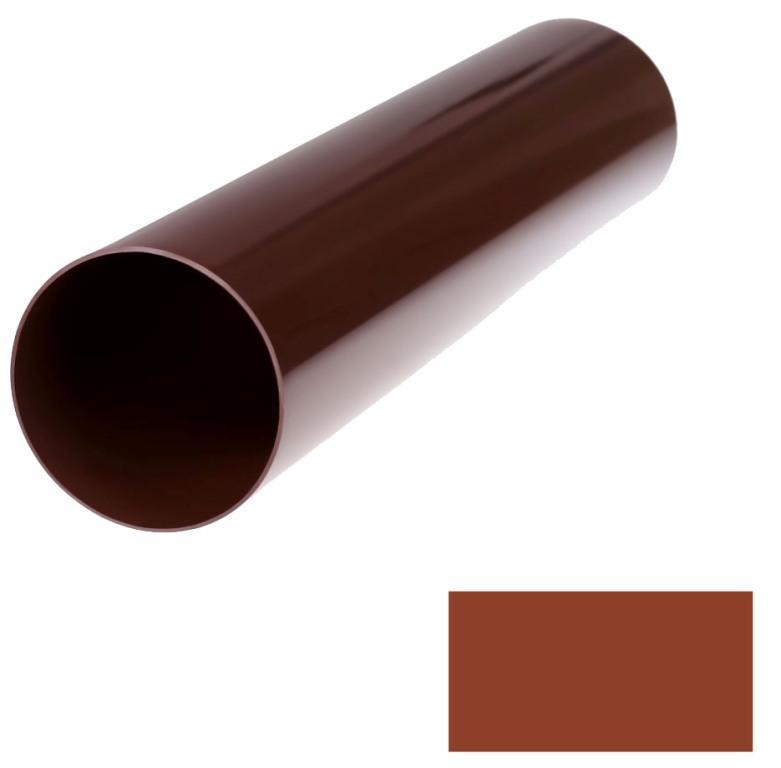 Труба водосточная Profil 90 d75 4м кирпичный 3009 (код 102)