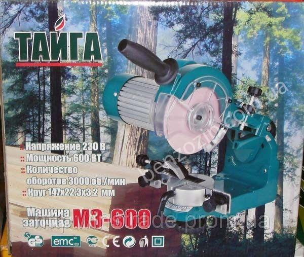 Станок для заточки цепи Тайга МЗ-600