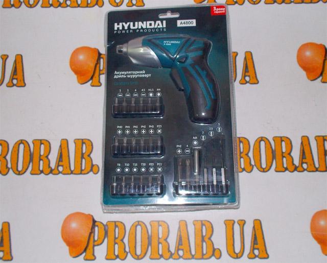 аккумуляторная hyundai a4800