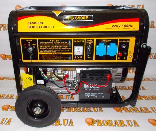 Генератор бензиновый 6500 генератор