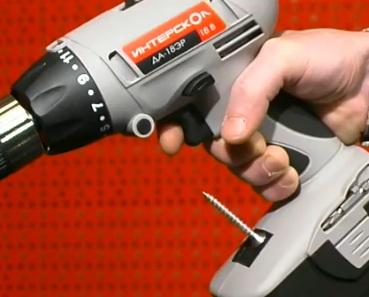 магнитный держатель для шурупов у шуруповерта Интерскол ДА-18ЭР