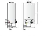 Проточные газовые колонки FAST Ariston (газовый проточный водонагреватель с открытой камерой сгорания) .