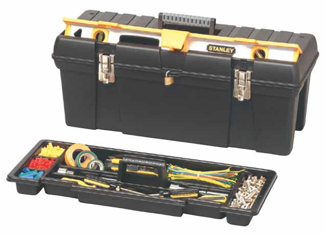 ящик инструментальный 66см, метал.замок (уп.3) STANLEY 1-92-850